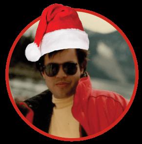 Dr. Litrel Santa hat photo