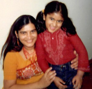 Dr. Gandhi with mom photo