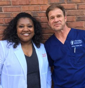 Dr. Clay with Dr. Haley