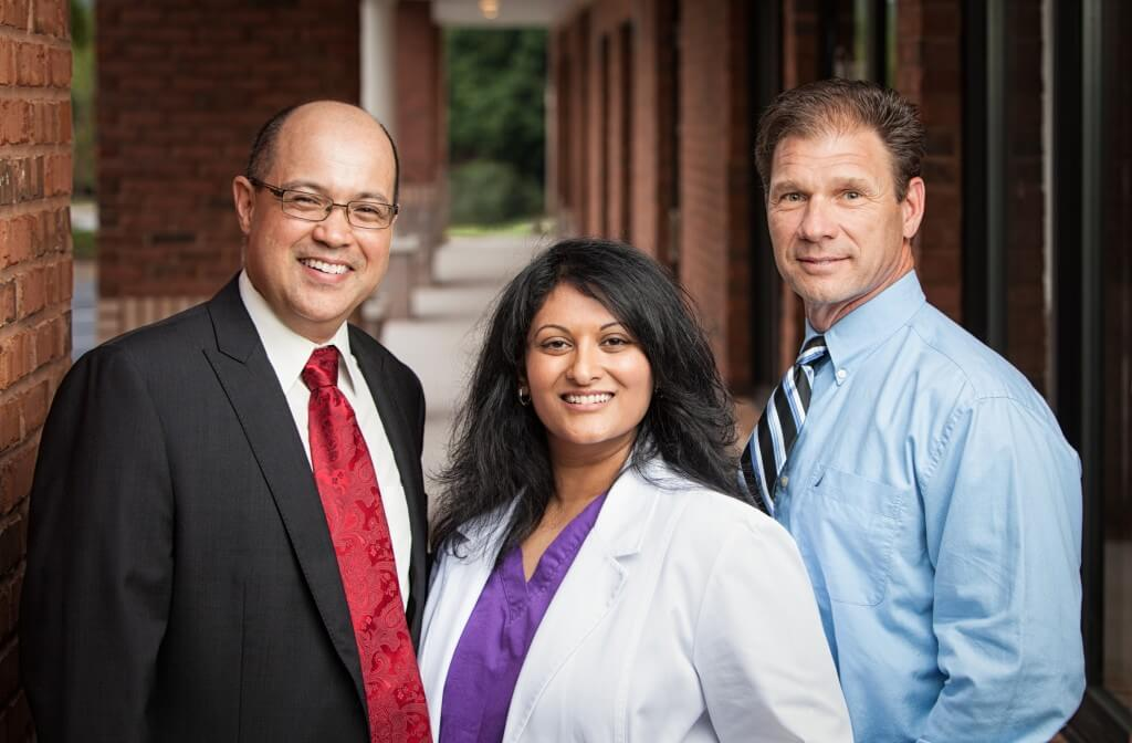 Dr. Litrel, Dr. Gandhi, Dr. Haley photo