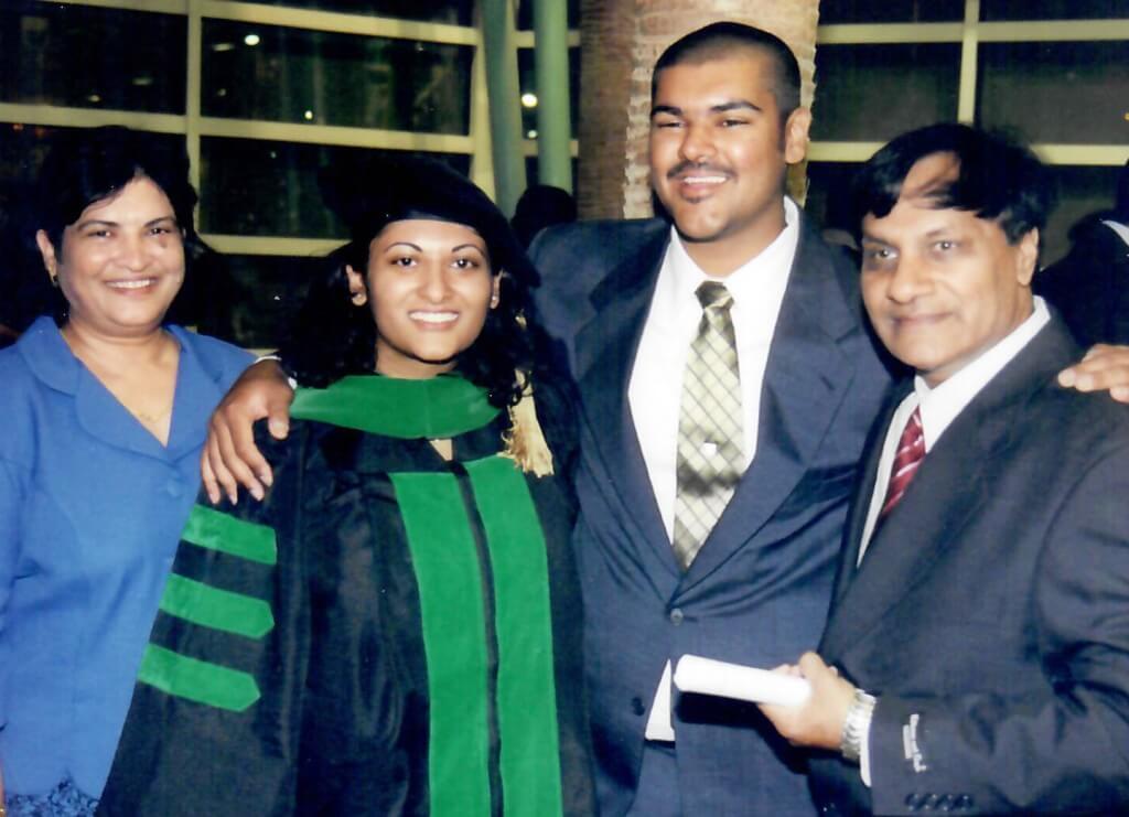 Dr. Gandhi graduation photo