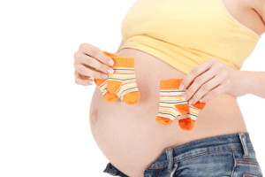A mother carrying twins or triplets may be classified as having a high-risk pregnancy.