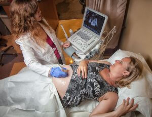 ultrasound photo with brenda