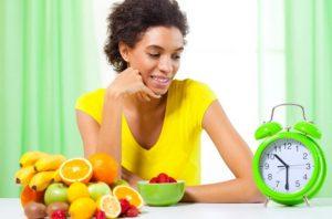 woman fasting fruit photo