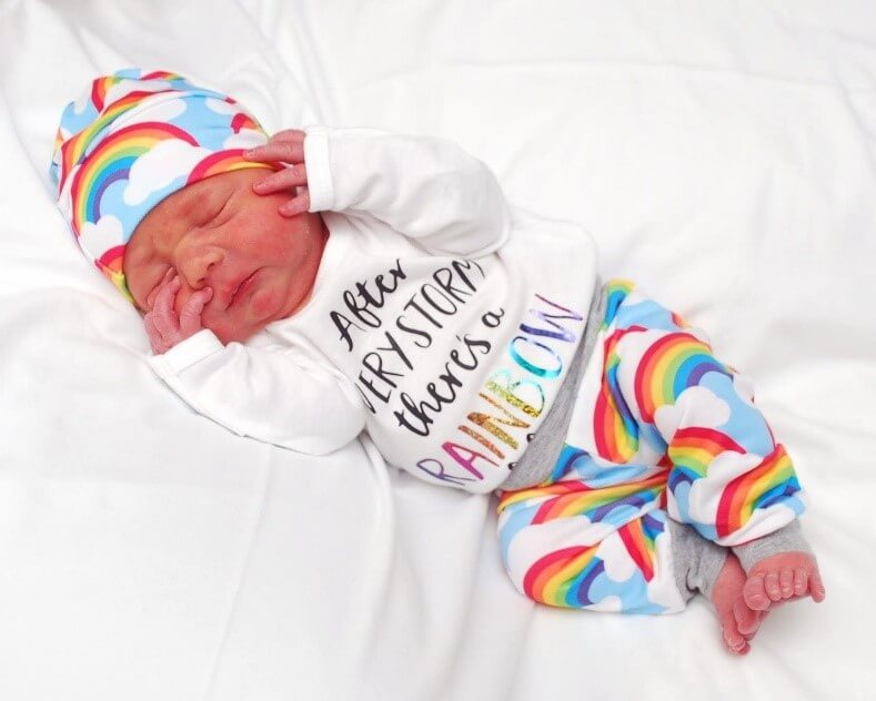 rainbow baby photo