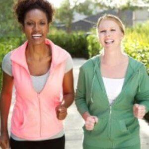 two healthy women