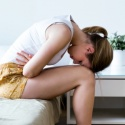 young woman pcos pain